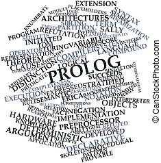 Prolog - Abstract word cloud for Prolog with related tags...