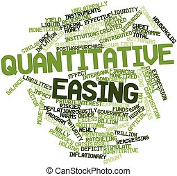 Word cloud for Quantitative easing - Abstract word cloud for...