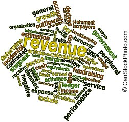 Revenue - Abstract word cloud for Revenue with related tags...