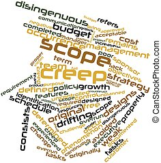 Scope creep - Abstract word cloud for Scope creep with...