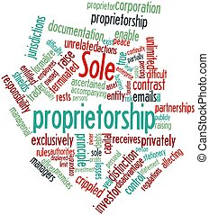 Word cloud for Sole proprietorship - Abstract word cloud for...
