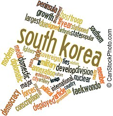 Word cloud for South Korea - Abstract word cloud for South...