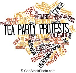 Word cloud for Tea Party protests - Abstract word cloud for...