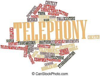 Telephony - Abstract word cloud for Telephony with related...