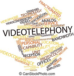 Videotelephony - Abstract word cloud for Videotelephony with...