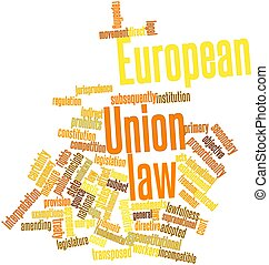 European Union law - Abstract word cloud for European Union...