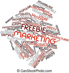 Word cloud for Freebie marketing - Abstract word cloud for...