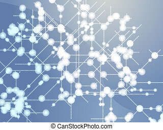 Data flows - Abstract illustration of technical data nodes...