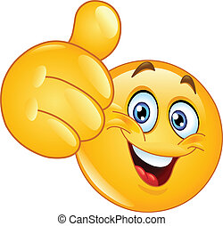 Thumb up emoticon - Emoticon showing thumb up