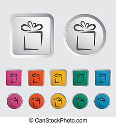 Gift icon - Holiday Gift Box Icon Vector illustration EPS 8...