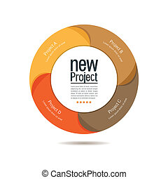 Colorful circular projects design