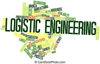 Logistic engineering - Abstract word cloud for Logistic...