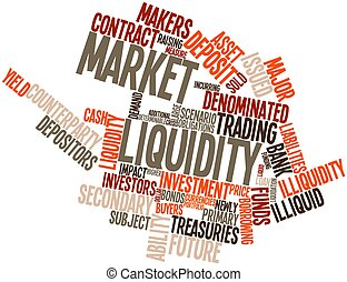 Market liquidity - Abstract word cloud for Market liquidity...
