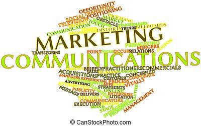 Marketing communications - Abstract word cloud for Marketing...