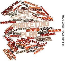 Word cloud for Marketing plan - Abstract word cloud for...