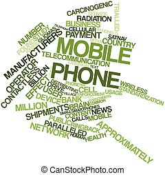 Mobile phone - Abstract word cloud for Mobile phone with...