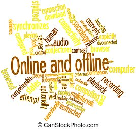 Word cloud for Online and offline - Abstract word cloud for...