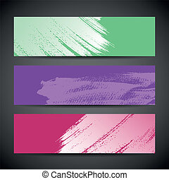 Paint brush colorful background - Paint brush banner...
