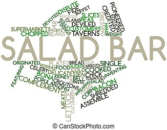 Salad bar - Abstract word cloud for Salad bar with related...