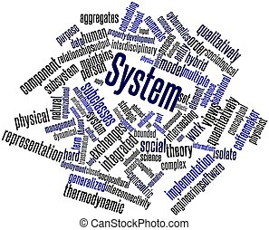 System - Abstract word cloud for System with related tags...