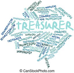 Treasurer - Abstract word cloud for Treasurer with related...