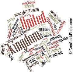 United Kingdom - Abstract word cloud for United Kingdom with...