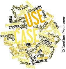 Word cloud for Use case - Abstract word cloud for Use case...