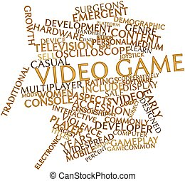Video game - Abstract word cloud for Video game with related...