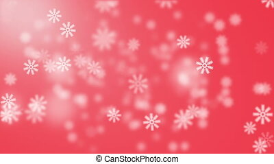 Snow on red background