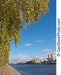 höst, hamn, landskap
