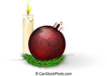 Christmas ball - Realistic red Christmas ball