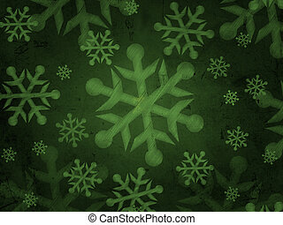 abstract green background with snowflakes - abstract green...
