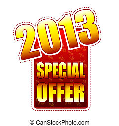 special offer year 2013 label - special offer year 2013 -...