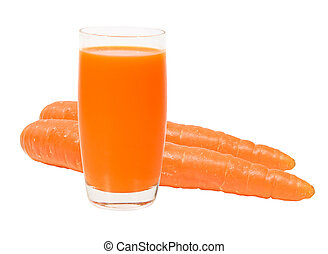 Carrot isolated with clipping path