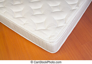 Detail of a white Mattress