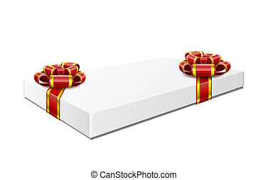 Gift box is isolated on white background.
