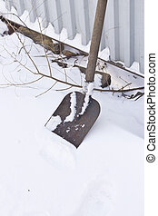 Shovel and snow - The shovel is ready to snow cleaning