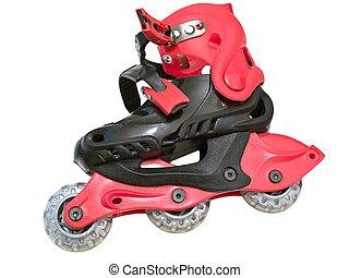 roller-skates - Isolated roller-skates against the white...