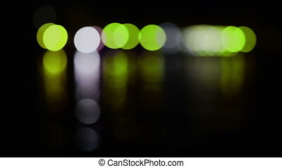 Holiday colorful bright lights - Holiday green and yellow...