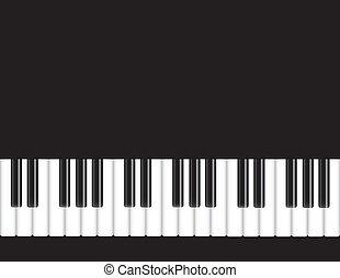 鋼琴, 插圖, 鍵盤
