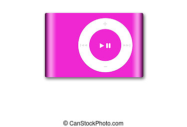 Music Player - A simple photo of an iPod on a white...