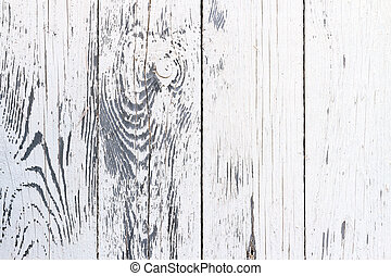 White painted fence - Weathered white wooden wall texture