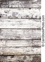 Grunge wooden background - Weathered white painted wooden...