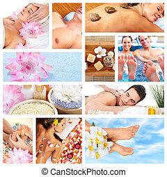 Beautiful Spa massage collage - Beautiful Spa massage...