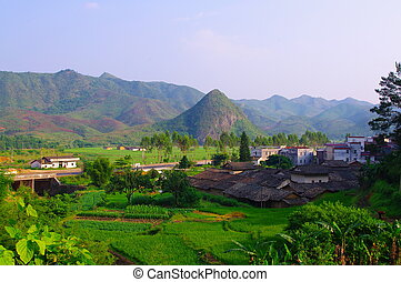 Beautiful village of southwest chinese pro Guangdong