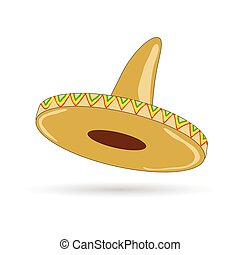 sombrero hat from mexico vector illustration - sombrero hat...