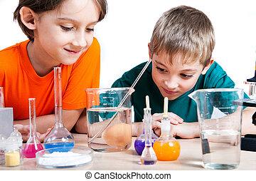 joven, científicos