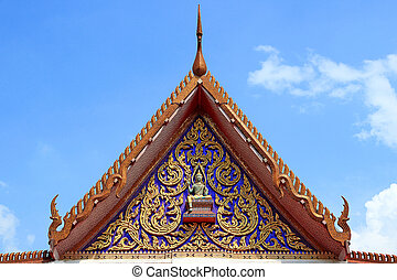 Gable Church of Buddhism in Thailand