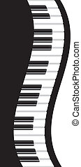 PianoBorderWavyV - Piano Keyboards Wavy Border Background...