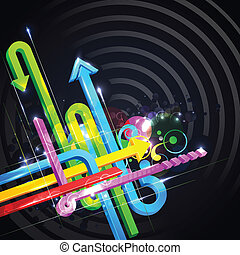 Colorful Arrow - illustration of colorful arrow on abstract...